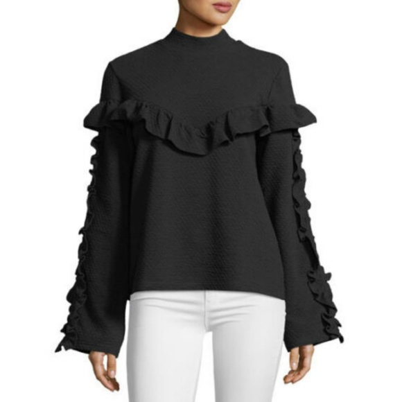 fa499c3f641 Lumie Ruffle-Trim Women s Sweatshirt